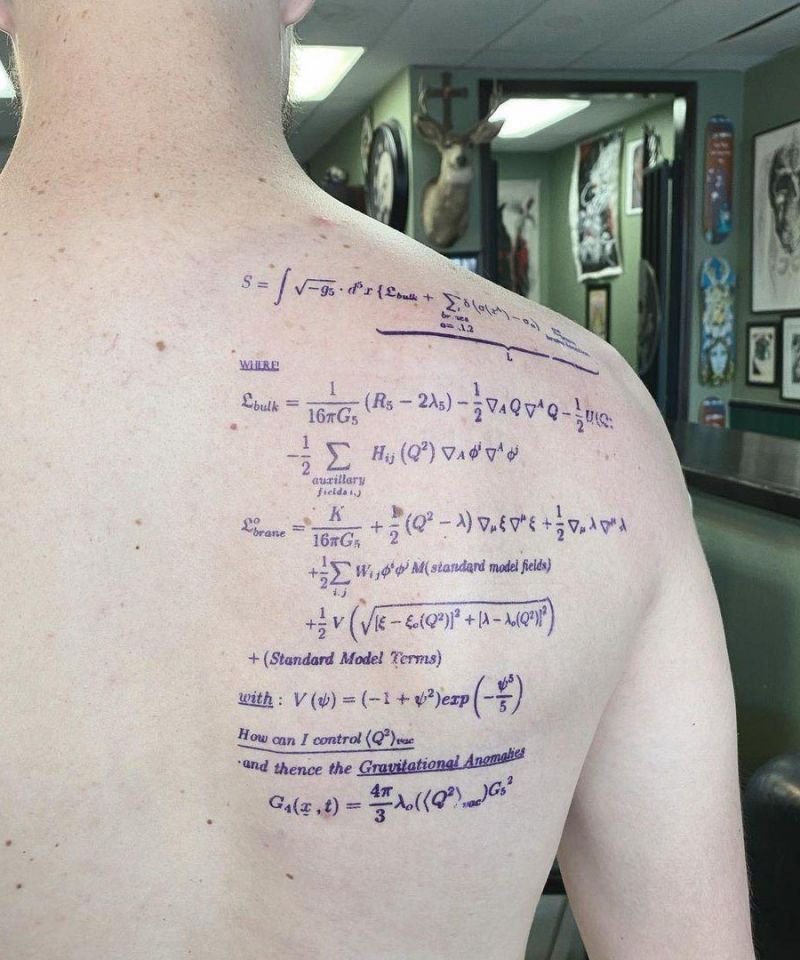 30 Unique Equation Tattoos You Must Try