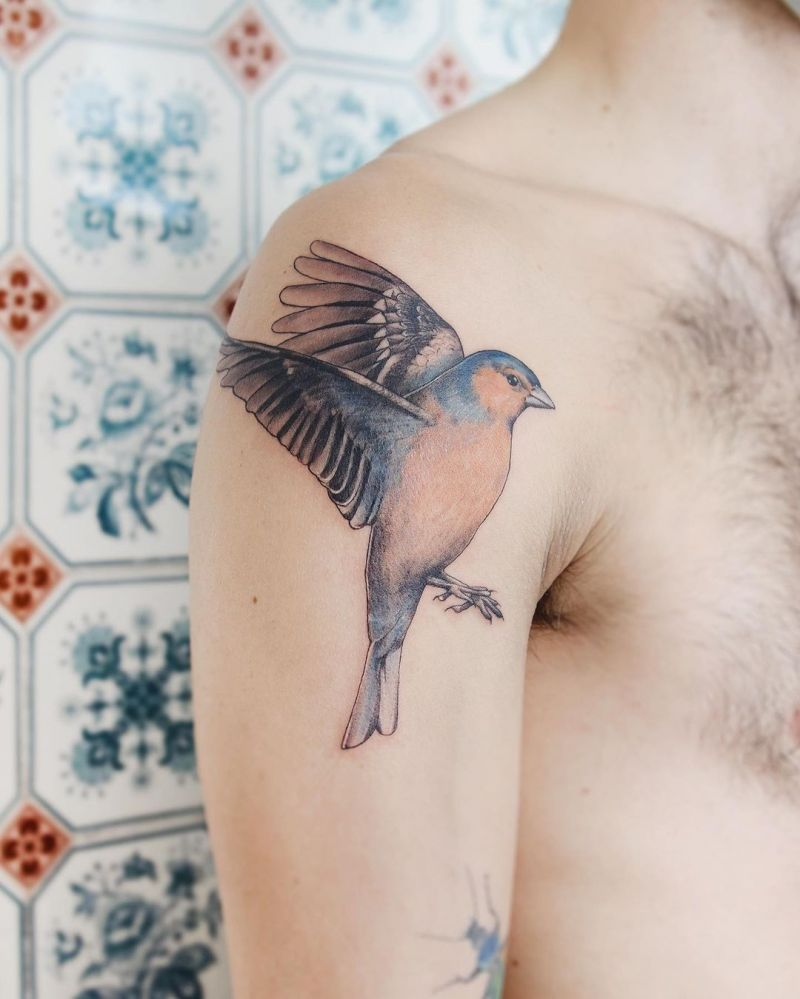 30 Pretty Flying Birds Tattoos to Inspire You