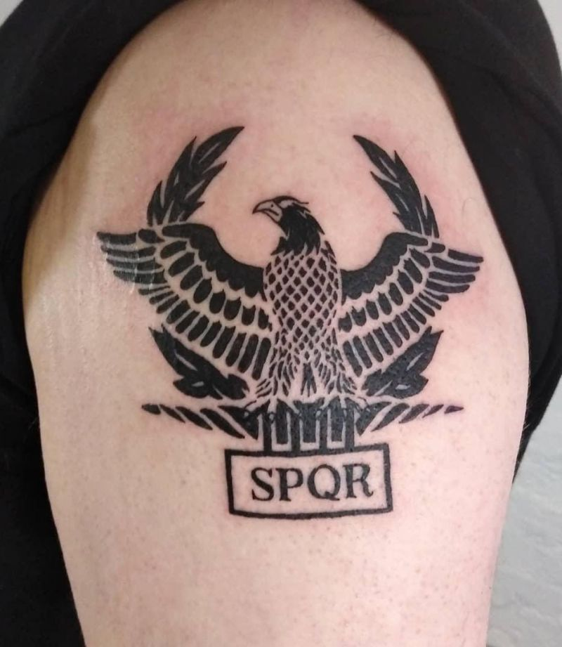 30 Unique SPQR Tattoos You Must See