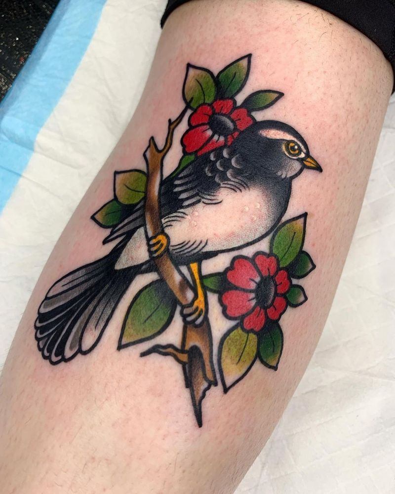30 Pretty Willy Wagtail Tattoos You Must Love