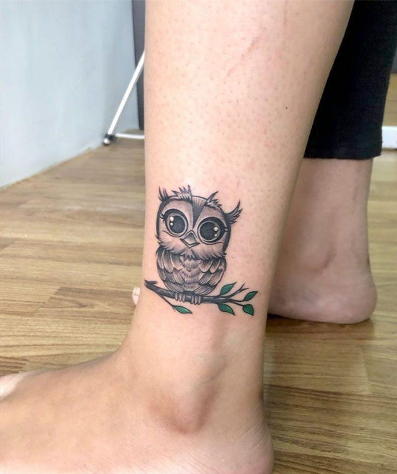 30 Cute Baby Owl Tattoos You Can Copy