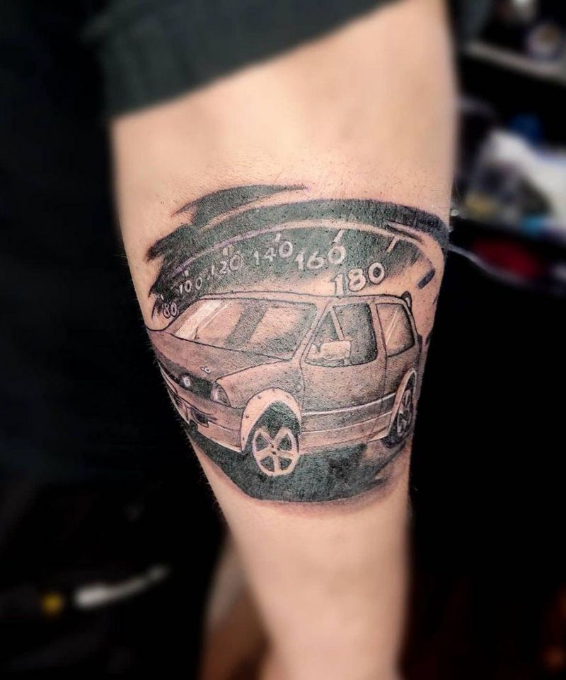 30 Excellent Speedometer Tattoos You Must Try