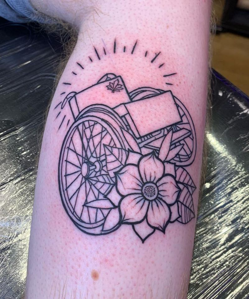 30 Unique Wheel Chair Tattoos You Must Try