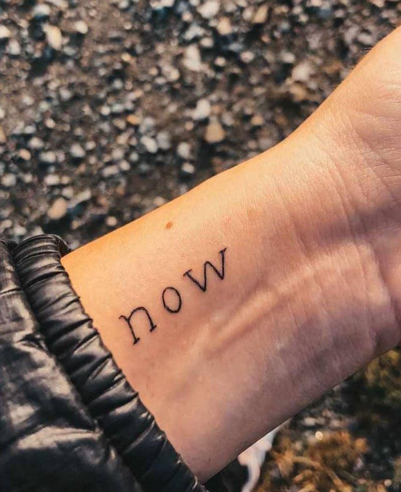 30 Unique Now Tattoos for Your Inspiration