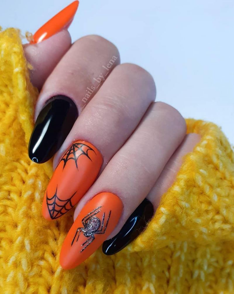 30 Spider Web Nail Art Designs for Halloween